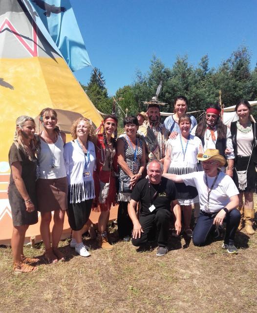 Avec les animateurs et le president du festival
